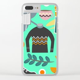 Ready for winter Clear iPhone Case