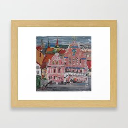 Houses of the Blackheads I Framed Art Print