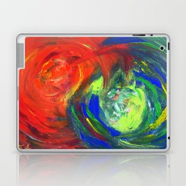Dynamic Swirls of Color - Red Laptop & iPad Skin