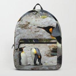 Penguins On A Rocky Coastline Backpack