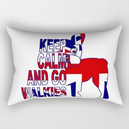 Keep Calm and Go Walkies Two Rectangular Pillow