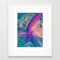 erotic Framed Art Prints featuring Pure Erotic by Die Farbenfluesterin