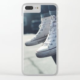 All White Chucks Clear iPhone Case