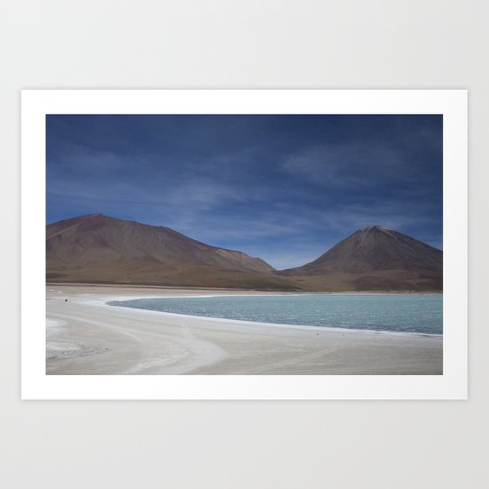 Bolivian lakes Art Print