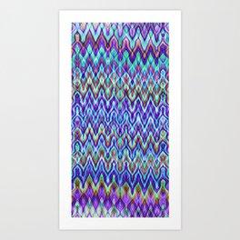 Missoni Style Blue Art Print