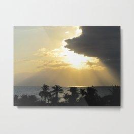 Sunrise over the ocean Metal Print