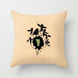 Vermont - State Papercut Print Throw Pillow