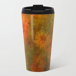 """Golden Manila Flowers"" Travel Mug"