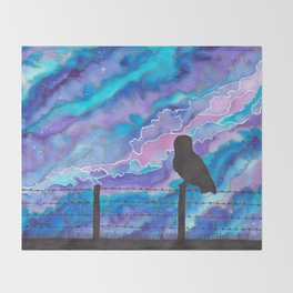 Galaxy Owl Throw Blanket