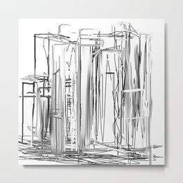 Abstract City Metal Print