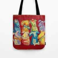 dogs Tote Bags featuring Dogs by Catru
