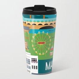 Marin County, California - Collage Illustration by Loose Petals Travel Mug