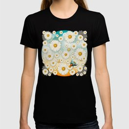 """Turquoise Moth &  Marguerites"" T-shirt"