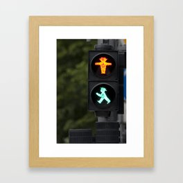 Berlin Stop and Go Framed Art Print