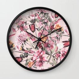 RPE FLORAL XI PINK Wall Clock