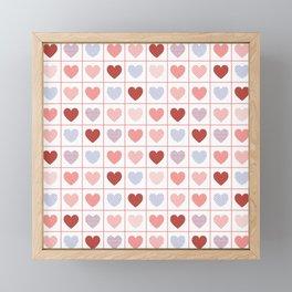 Hearts, hearts, hearts Framed Mini Art Print
