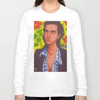 nick cave Long Sleeve T-shirts featuring Spotty Nick by Anna Gogoleva