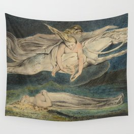 William Blake Pity Wall Tapestry