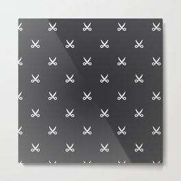 Scissors pattern Metal Print