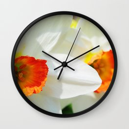 White Petals Wall Clock