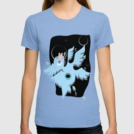 angel with cat for brains T-shirt
