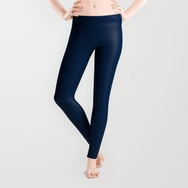 Los Angeles Football Team Navy Blue Solid Mix and Match Colors Leggings