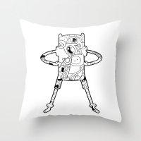 finn Throw Pillows featuring Finn  by 8BOMB