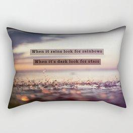Look For Rainbows Rectangular Pillow