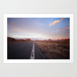 Down the road - Monument Vallet Art Print