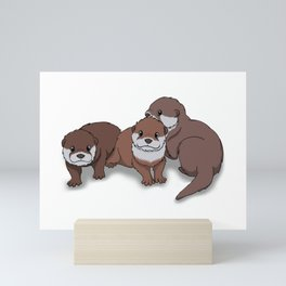 Romp of Baby Otters Mini Art Print