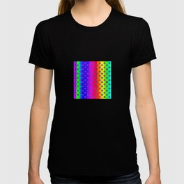 Rainbow and purple flowers T-shirt