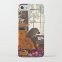beaver iPhone & iPod Cases featuring Little beaver by olgademidova