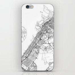 Dubai White Map iPhone Skin