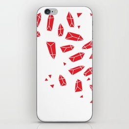 Red Crystals iPhone Skin