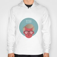 woody allen Hoodies featuring WOODY ALLEN by Gerardo Lisanti