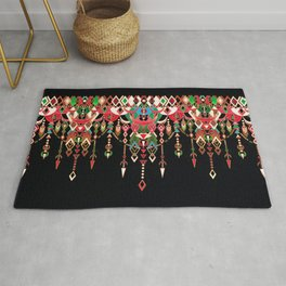 Modern Deco in Red and Black Rug