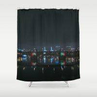 portland Shower Curtains featuring Portland, Oregon by Evan Dalen