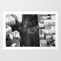 Streets of Paris III Art Print