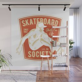 Skateboard Society Wall Mural