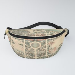 Vintage Pictorial Map of Stanford Fanny Pack