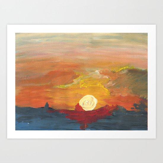 Sunset Impressionist 2 Art Print