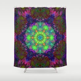 Fission Flower Shower Curtain