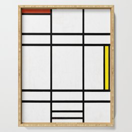 Piet Mondrian - Composition in White, Red, and Yellow Serving Tray