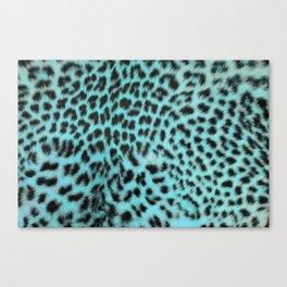 Turquoise leopard print Canvas Print