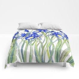 Blue Iris, Illustration Comforters