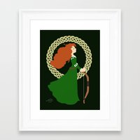merida Framed Art Prints featuring Merida  by Cantabile