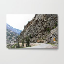 Driving the Spectacular, but Perilous Uncompahgre Gorge, No. 6 of 6 Metal Print