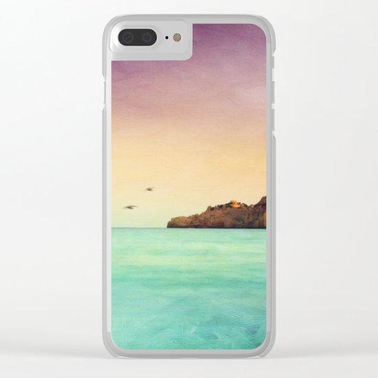 Glowing Mediterranean Clear iPhone Case