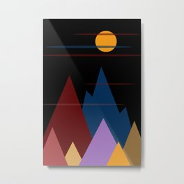 Moon Over The Mountains #3 Metal Print