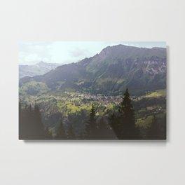Across the Gorge from Wengen, Switzerland Metal Print